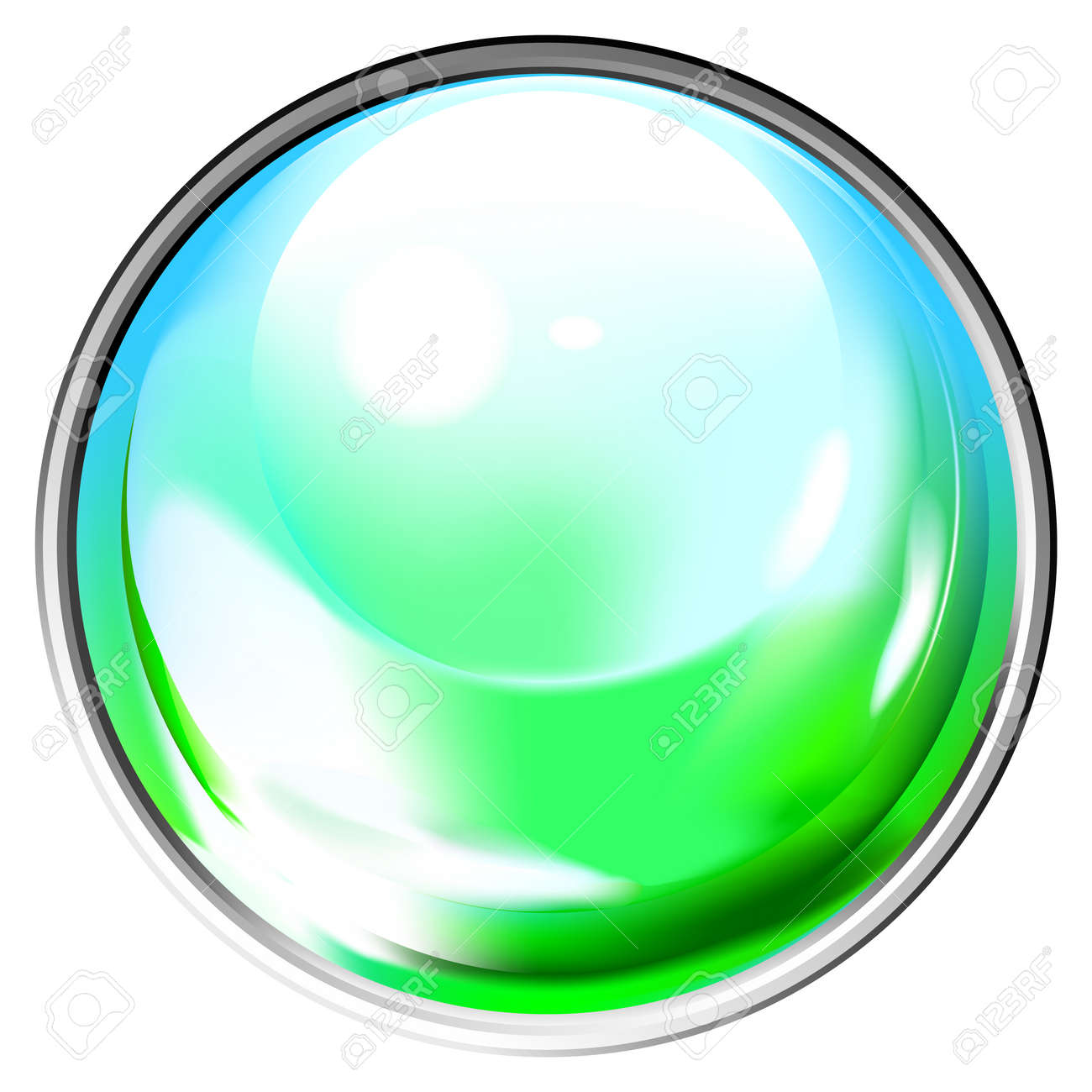 Colored transparent sphere. This image is a vector illustration and can be scaled to any size without loss of resolution. Stock Vector - 4475886