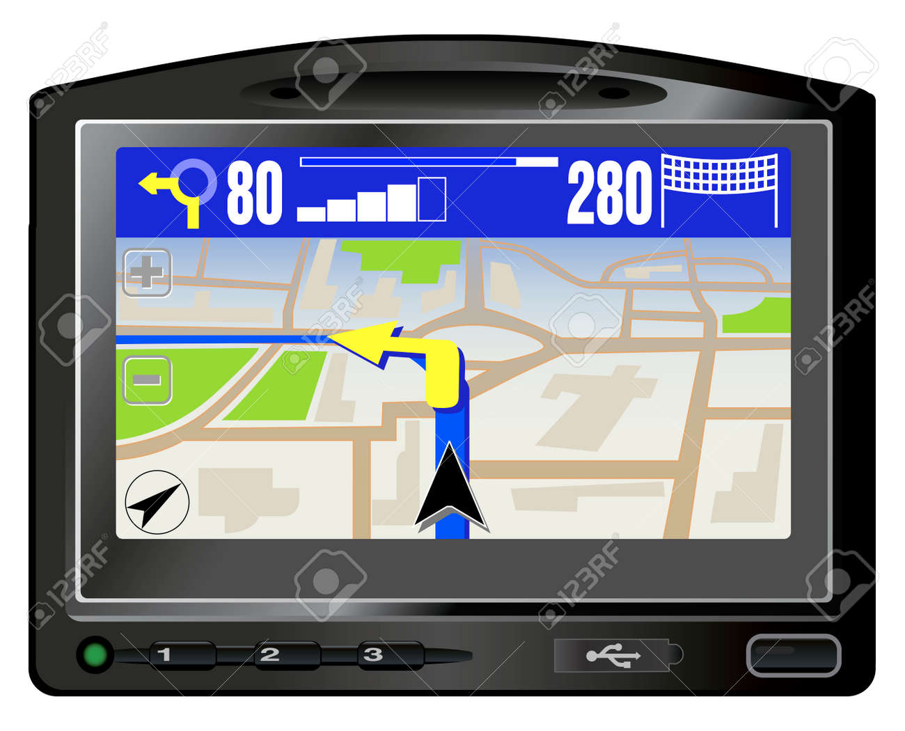 Modern GPS. This image is a vector illustration - 4966310