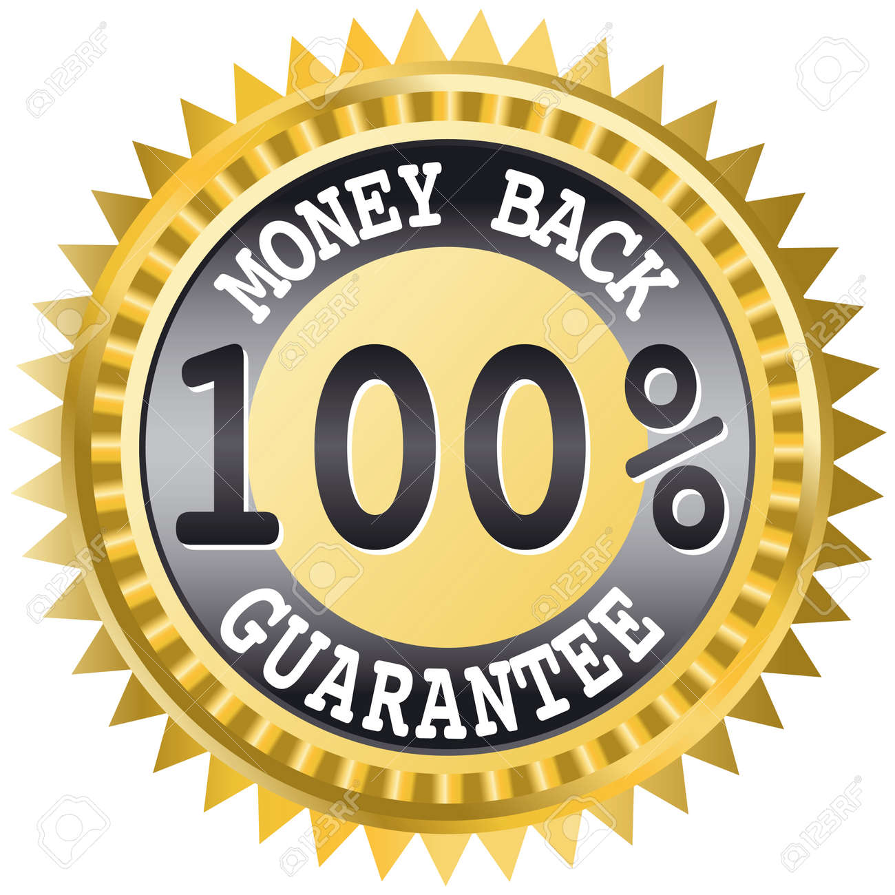 Money back label - this image is a vector illustration Stock Vector - 5587494