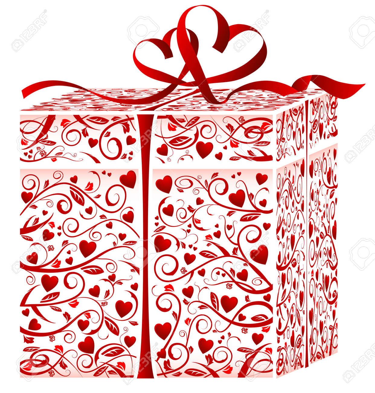 Gift box. This image is a vector illustration Stock Vector - 5966959