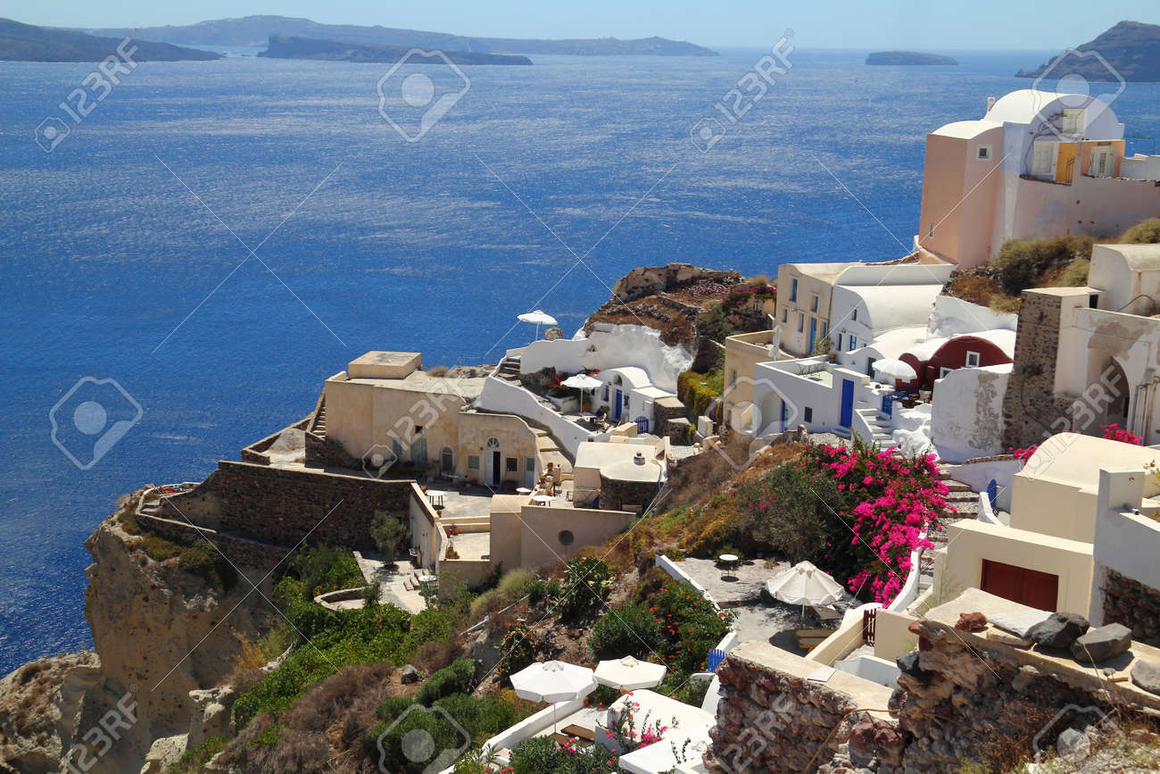 Traditional village of Oia at Santorini island in Greece - 15979689