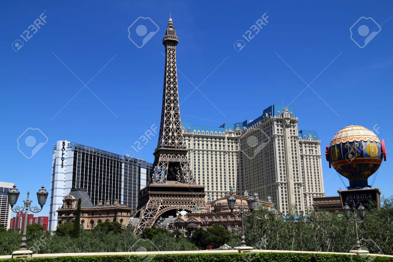 Paris Las Vegas hotel and Casino featured with the theme of Paris in France on March 4, 2010 in Las Vegas, Nevada. - 16152243