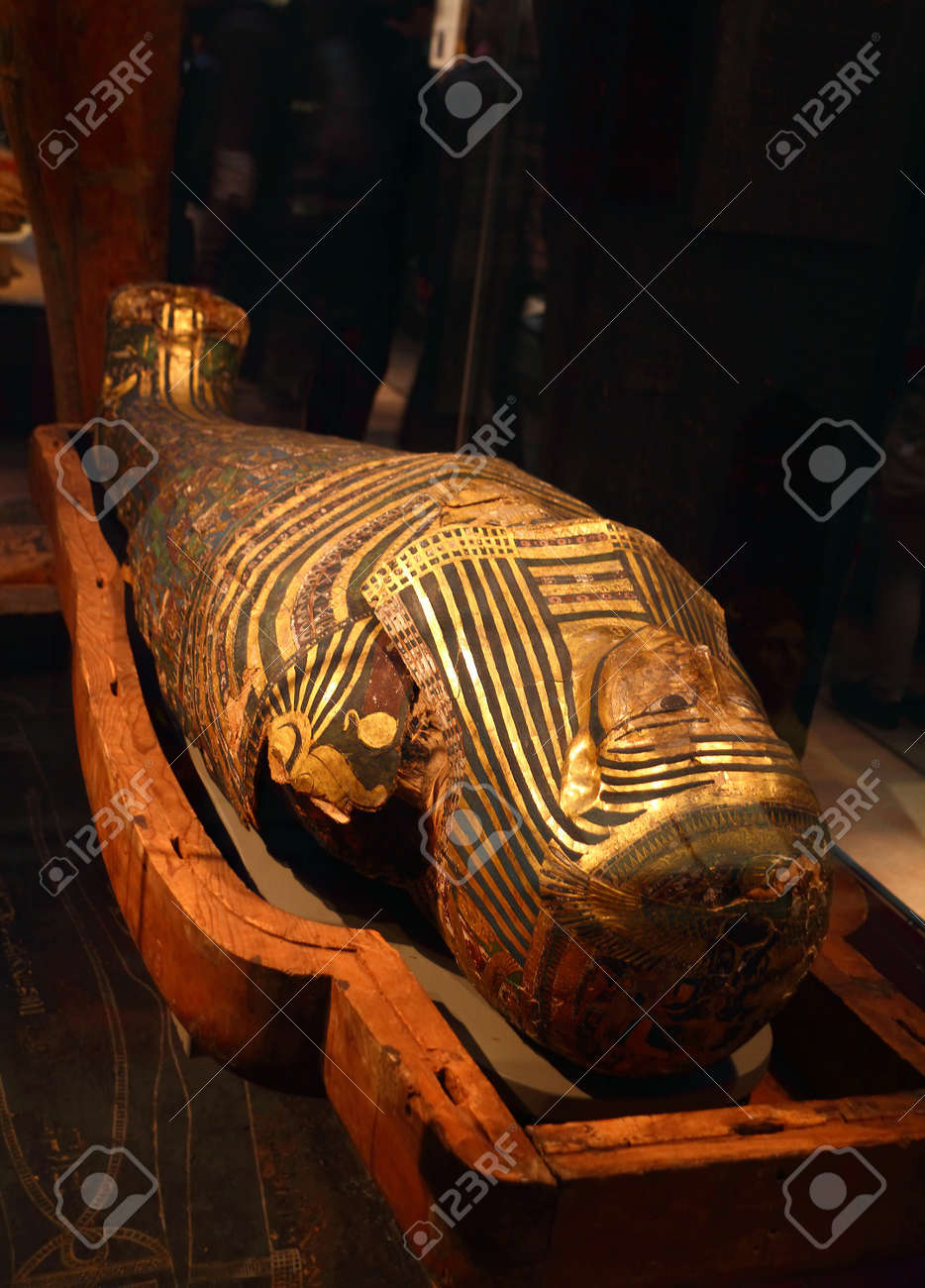 Egyptian Sarcophagus in the British Museum in London, England - 16152236