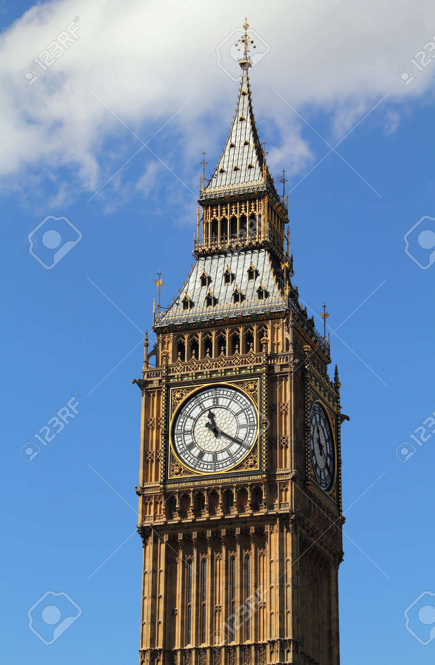 London, United Kingdom - Palace of Westminster (Houses of Parliament) Big Ben clock tower - 16447811