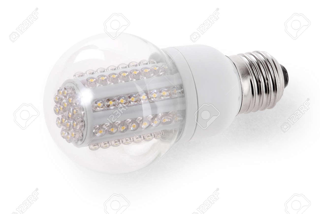 Close up LED Bulb isolated on white background - 16447862