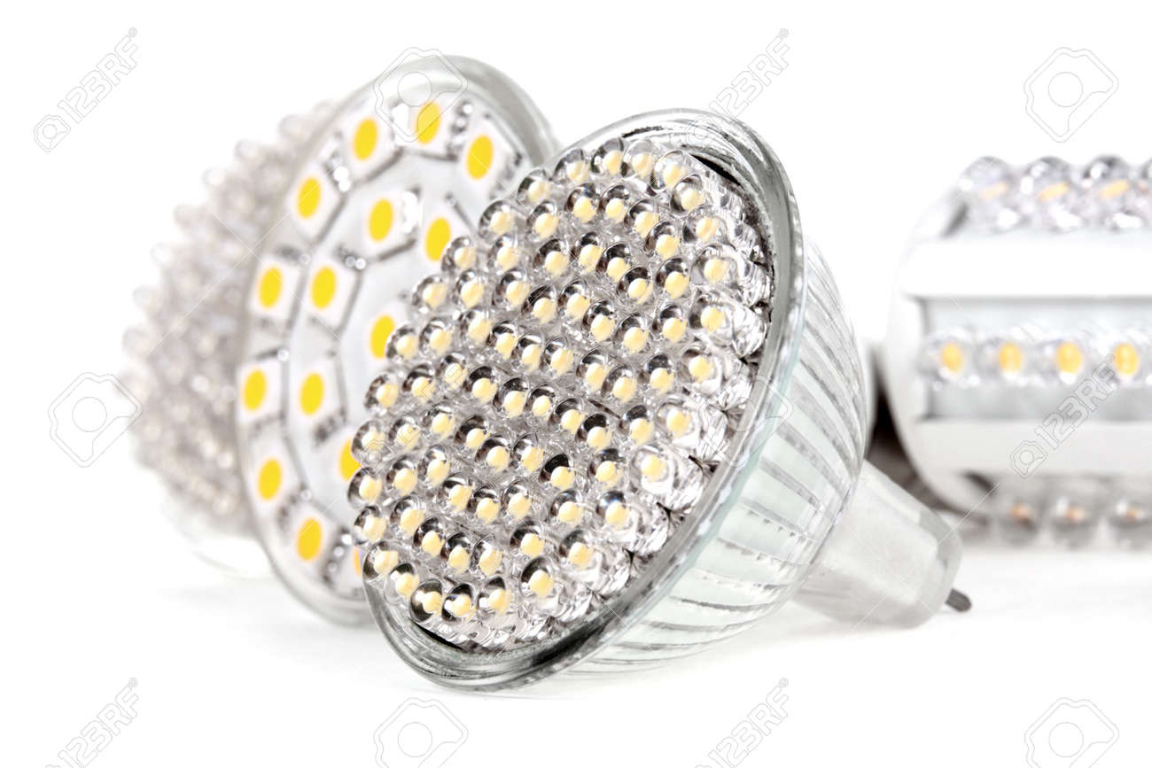 Newest LED light bulb technology is 90% more efficient than incandescent or halogen bulbs - 16447988