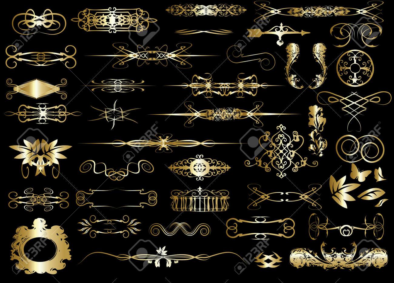 set of calligraphic design elements - 17222775