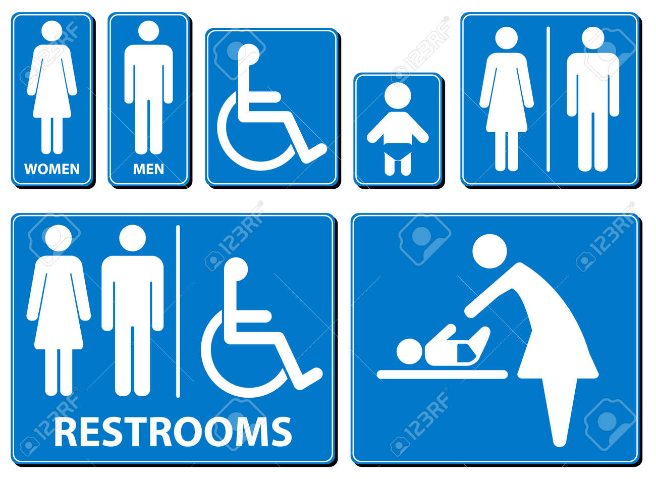 illustration toilette sign - 17222768