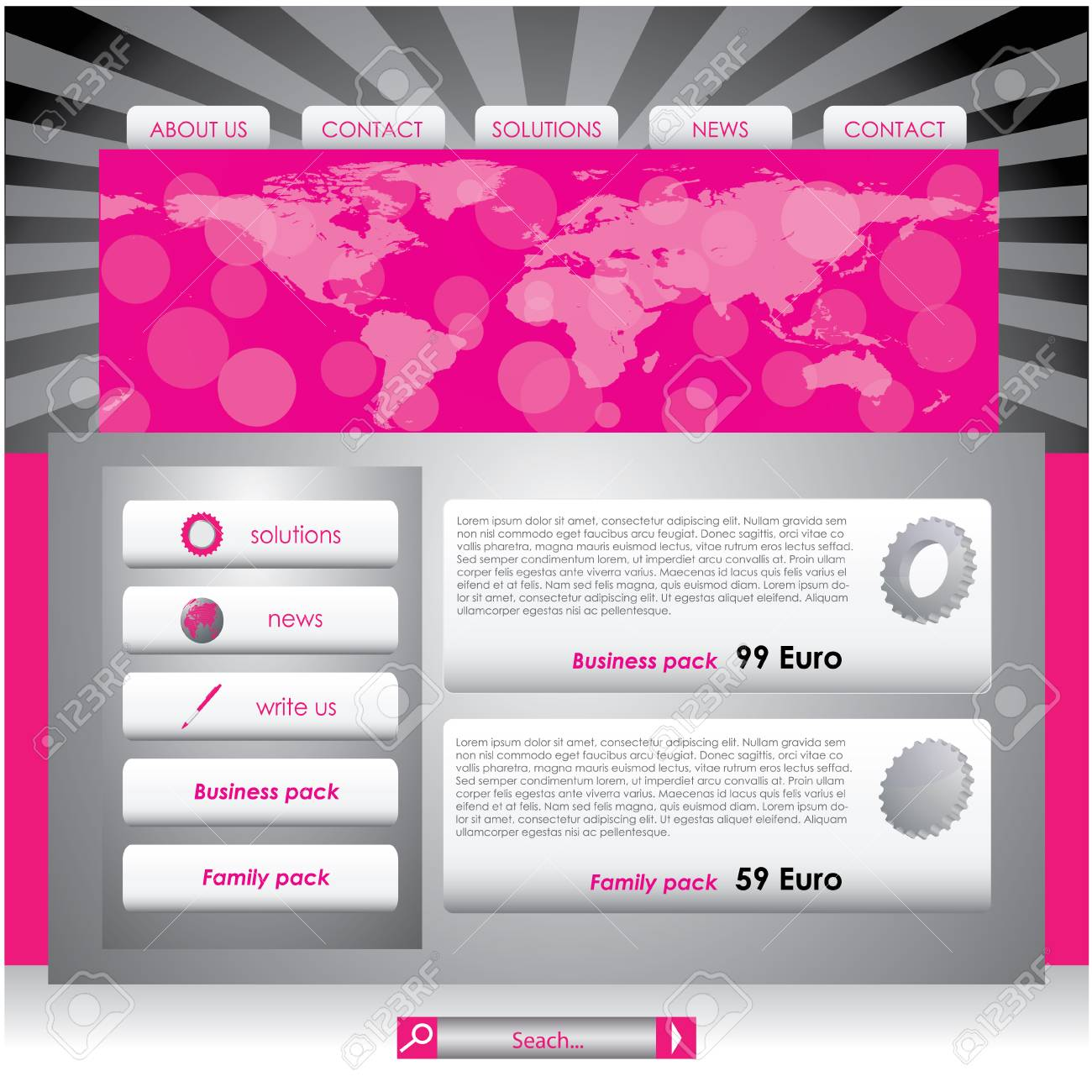 Website design template Stock Vector - 8409437