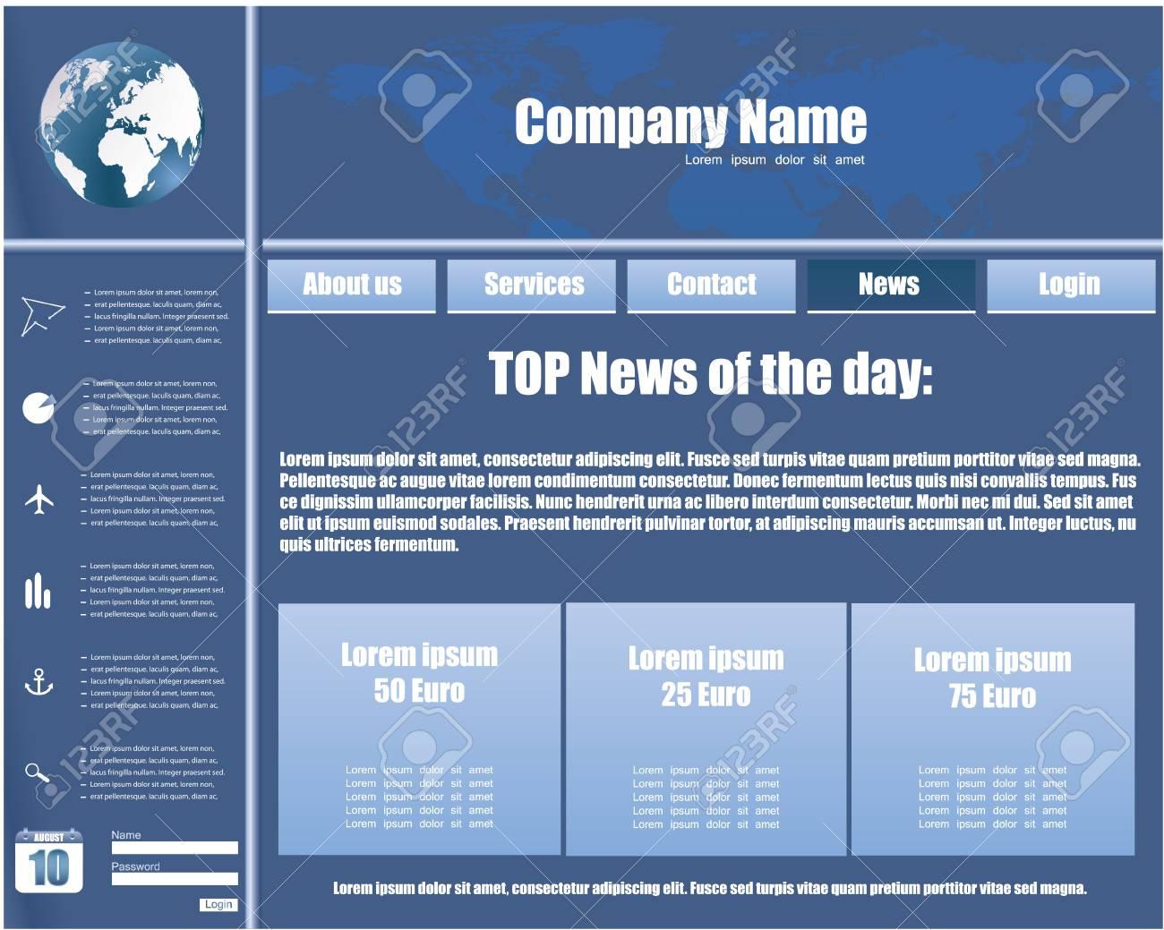 Business website template in editable format Stock Vector - 8760579