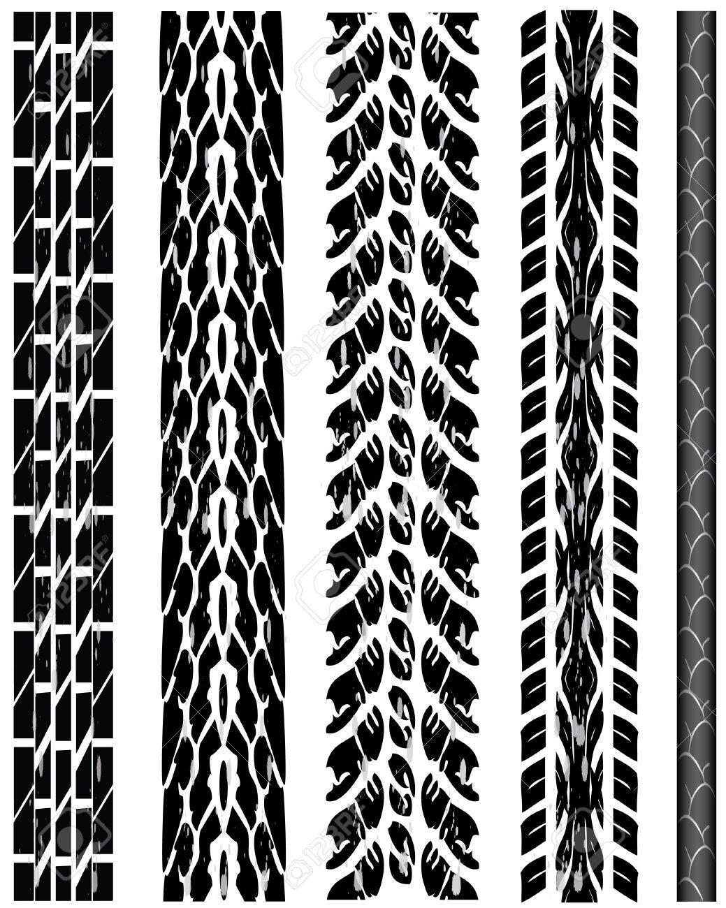 Vector tire tracks Stock Vector - 9329297