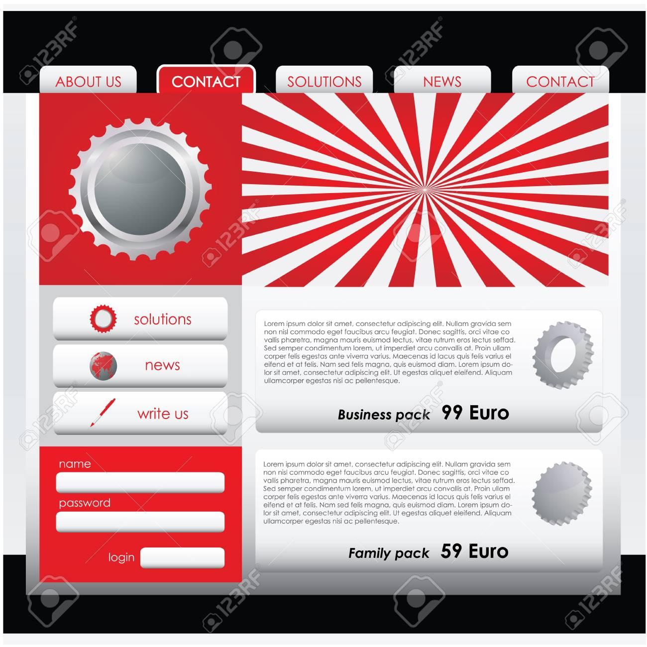 Website design template Stock Vector - 9775632
