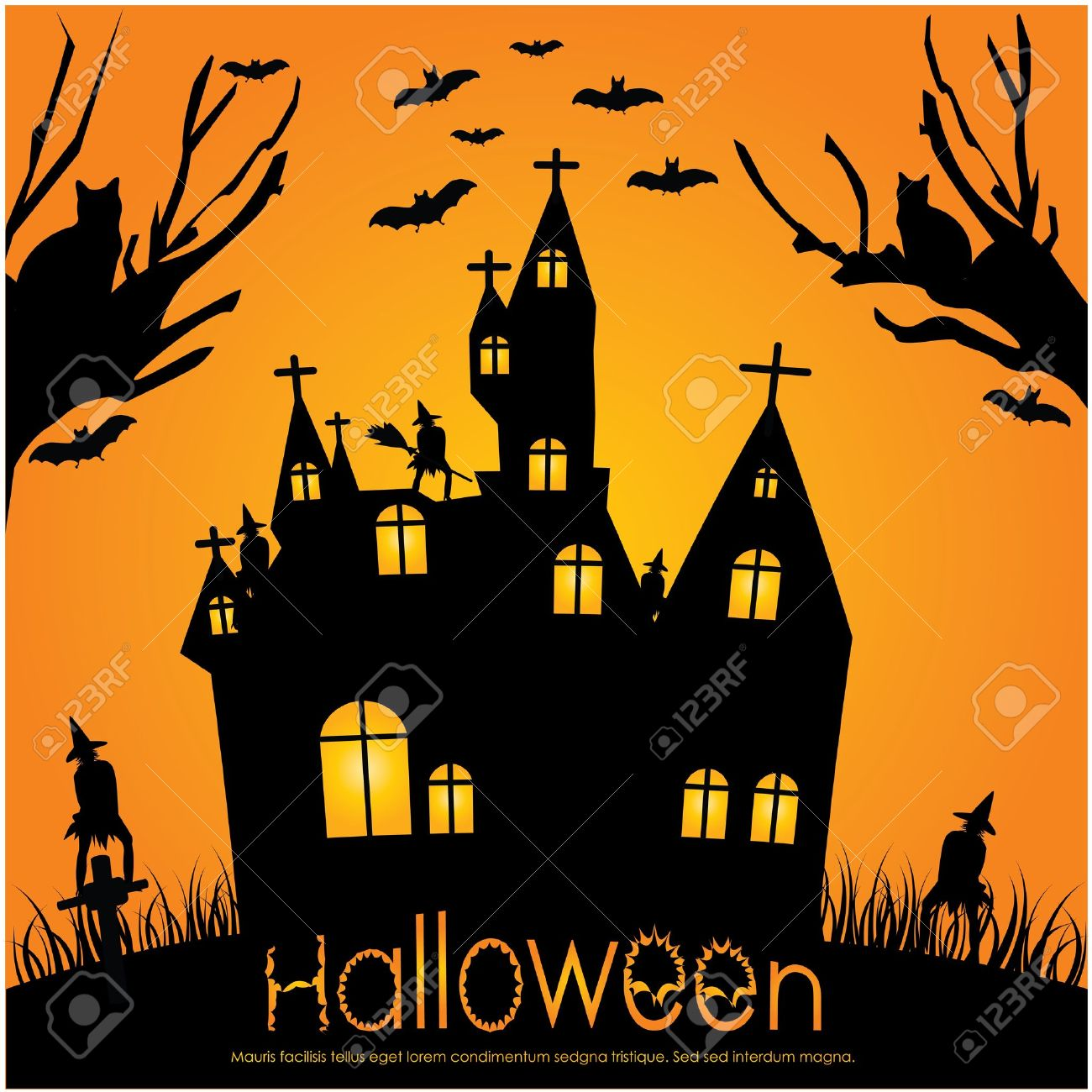 Halloween invitation royalty free cliparts vectors and stock halloween invitation stock vector 10421425 stopboris Gallery