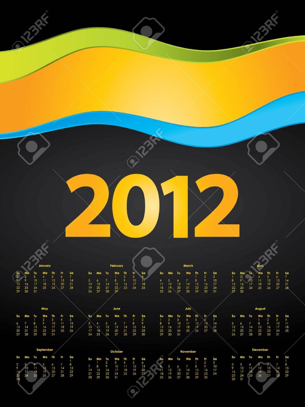 special calendar design for 2012 Stock Vector - 10421428