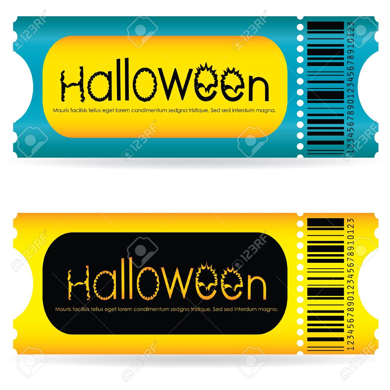 Special Tickets For The Halloween Party Royalty Free Cliparts ...