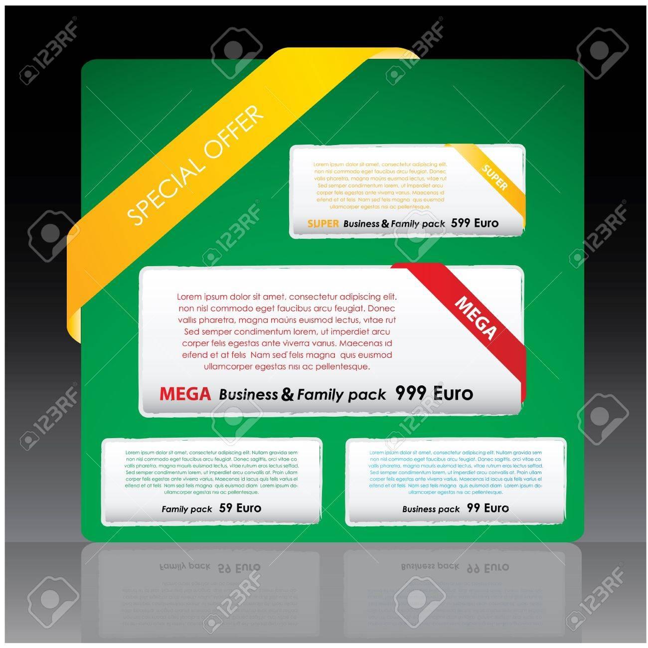 web elements Stock Vector - 10719345