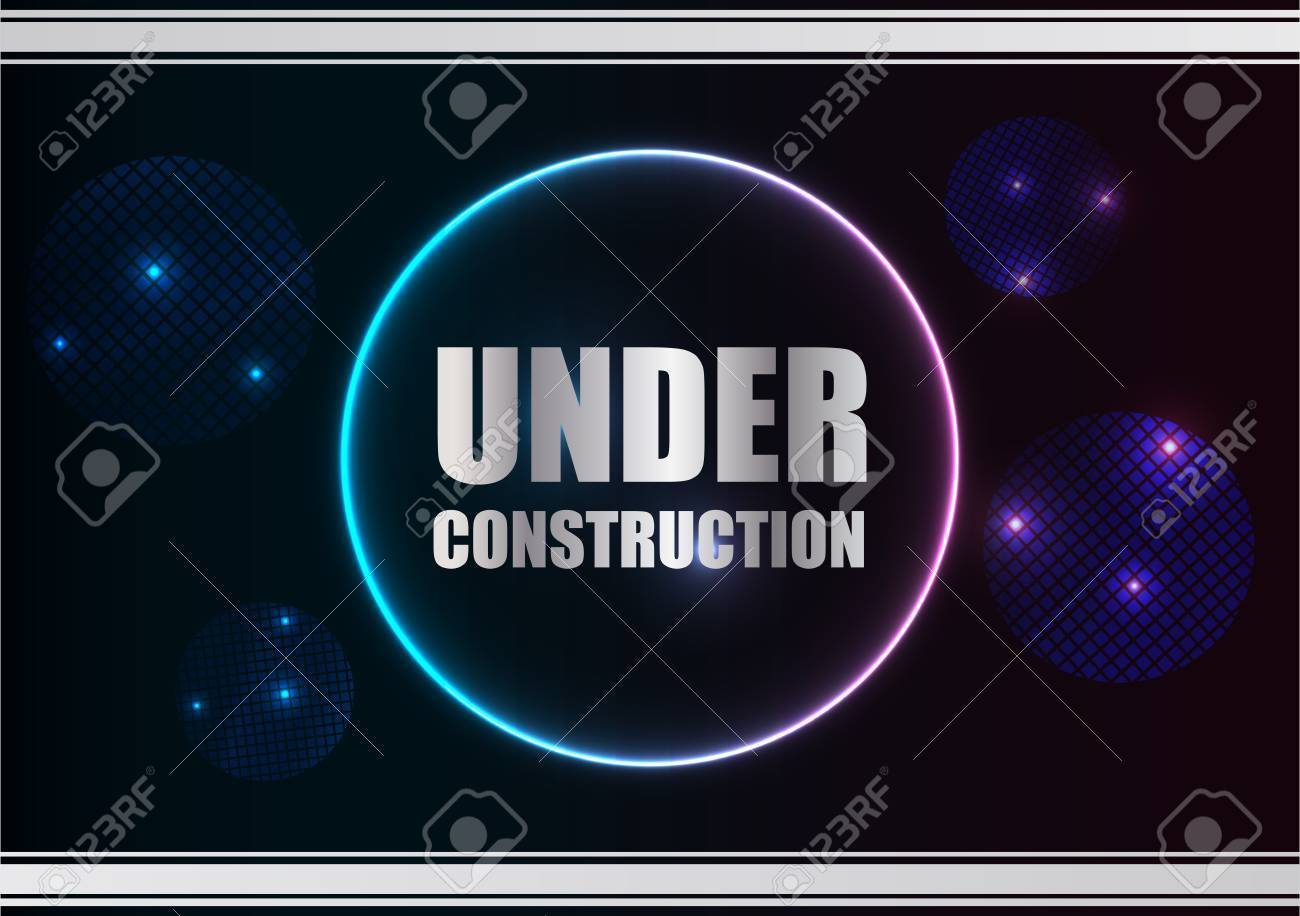 abstract under construction background with plasma design Stock Vector - 12792567