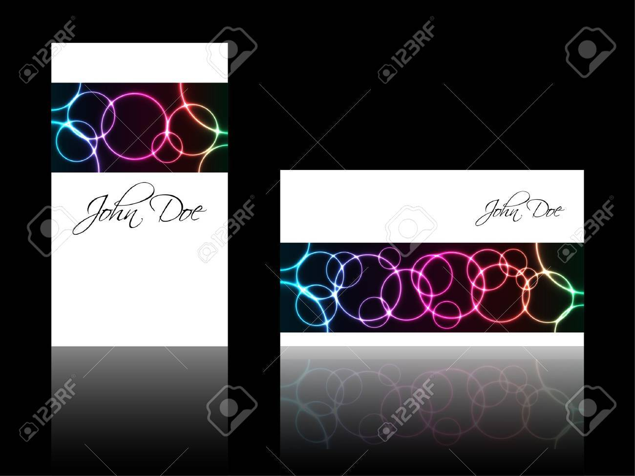 Abstract Business Card With Special Plasma Design Royalty Free ...