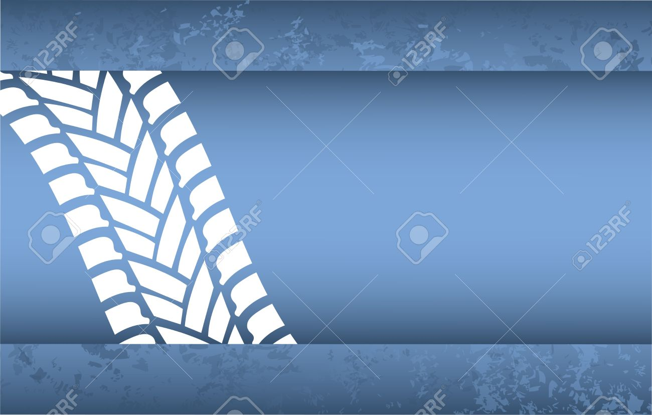 special blue grunge tire track background Stock Vector - 14571977