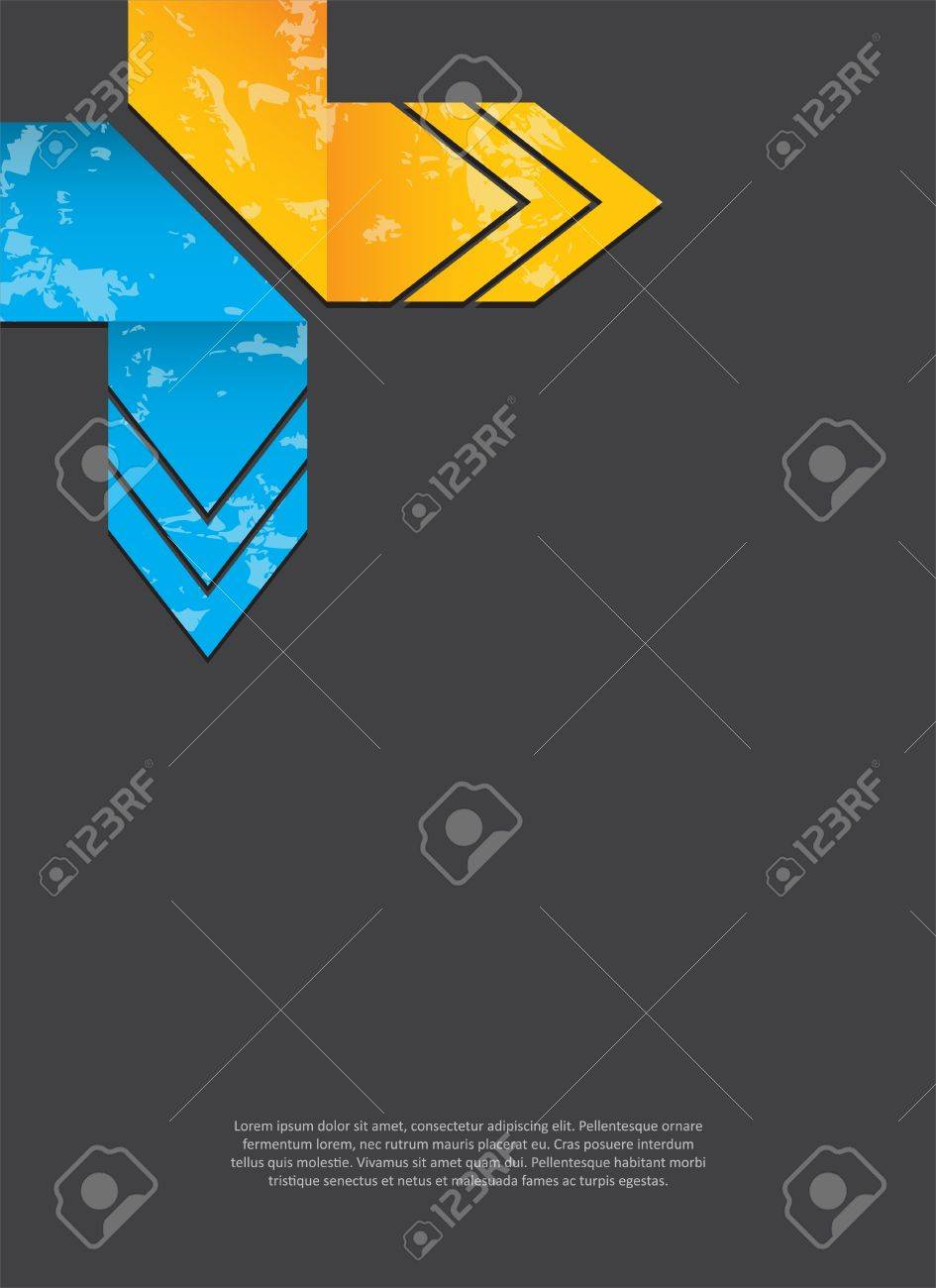 abstract background with grunge origami arrows Stock Vector - 15273974