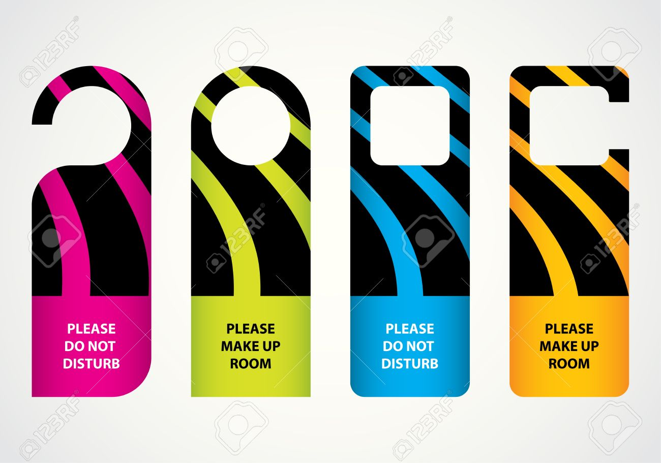 Design Door Hangers | Table and Chair and Door