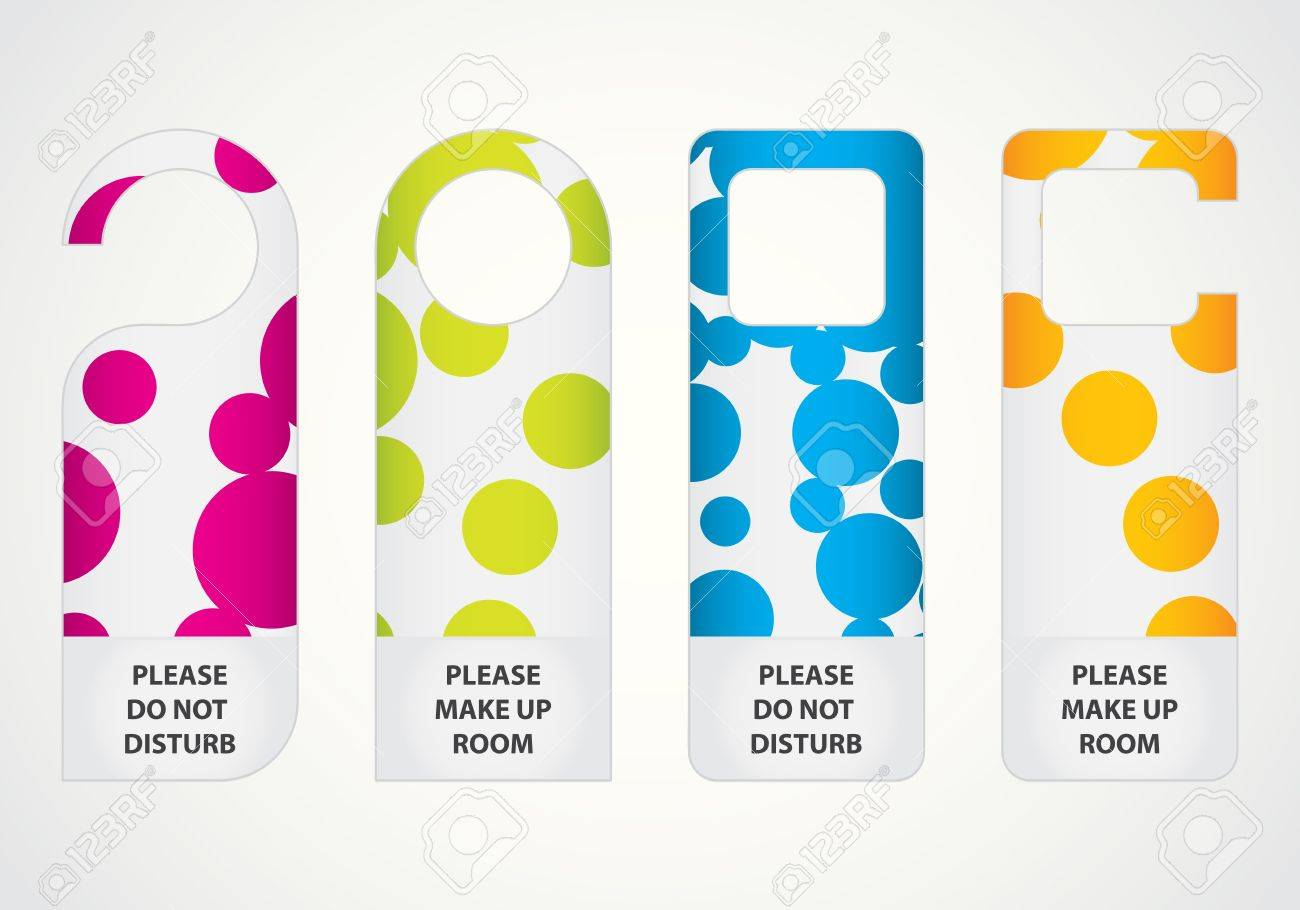 Door Hanger Graphic Design hotel do not disturb door hanger with special dotted design