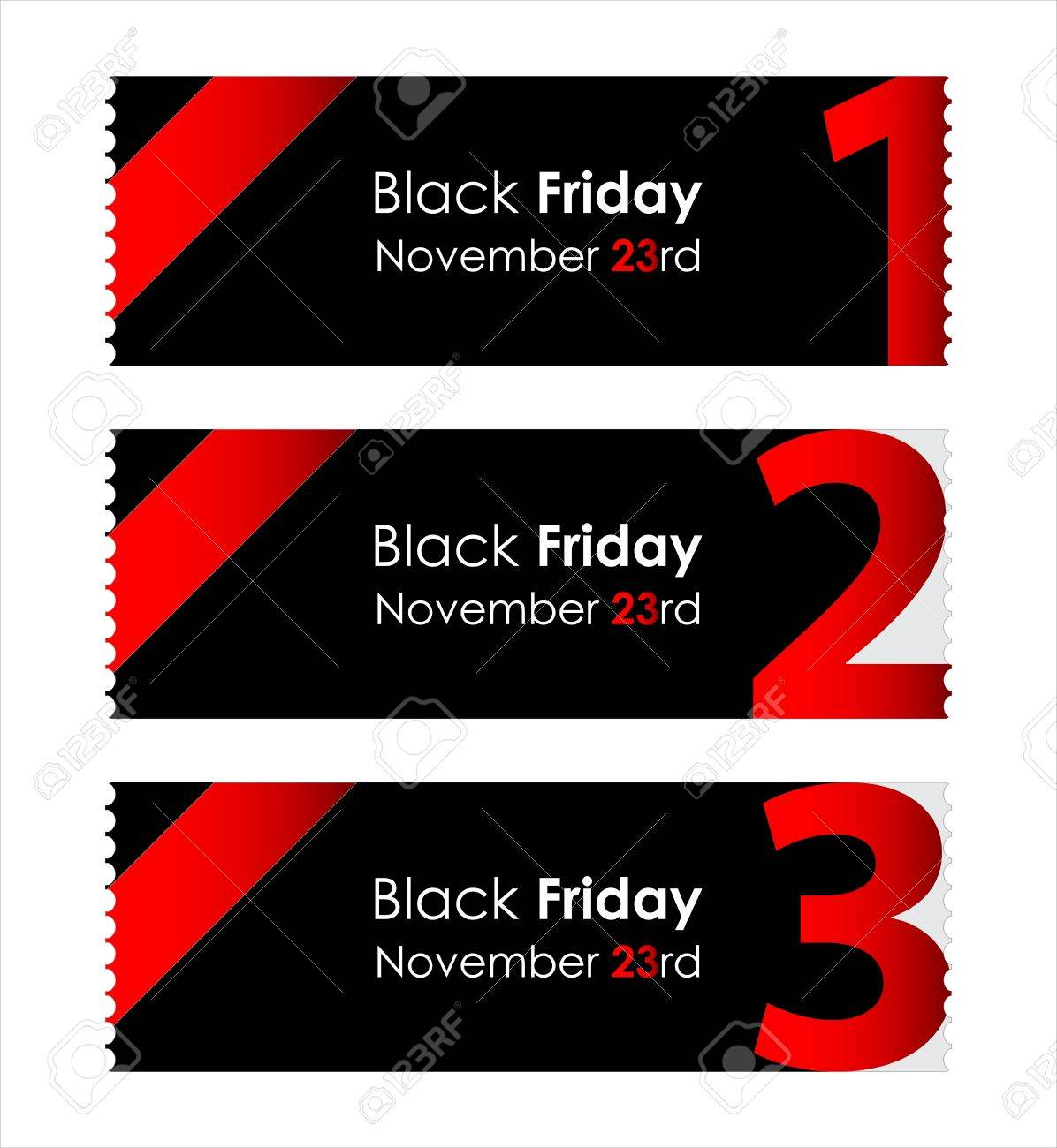 special red paper tickets with black friday text Stock Vector - 16317733