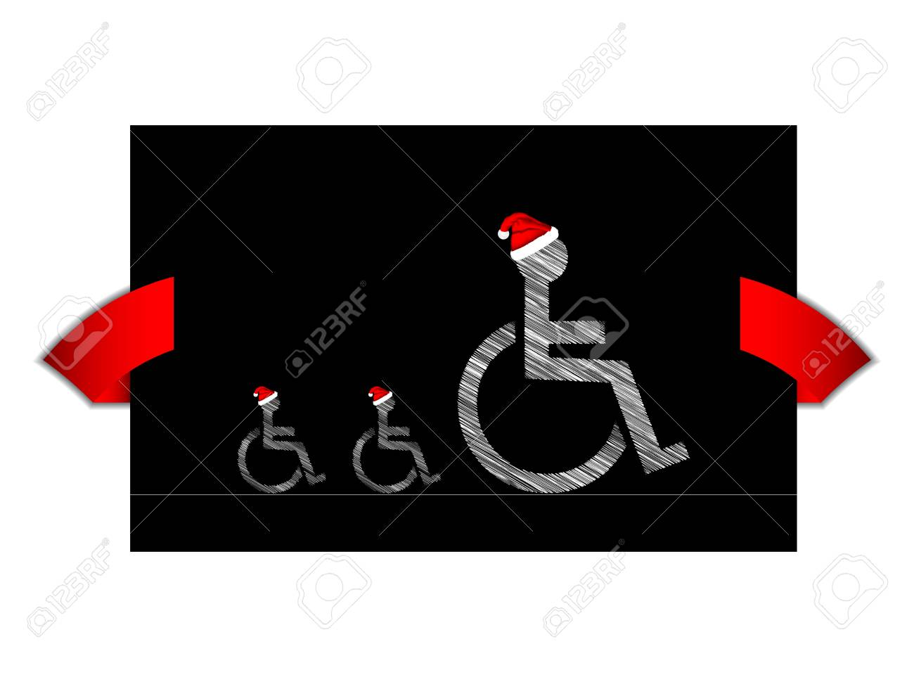 Disabled banner with special design Stock Vector - 16441542