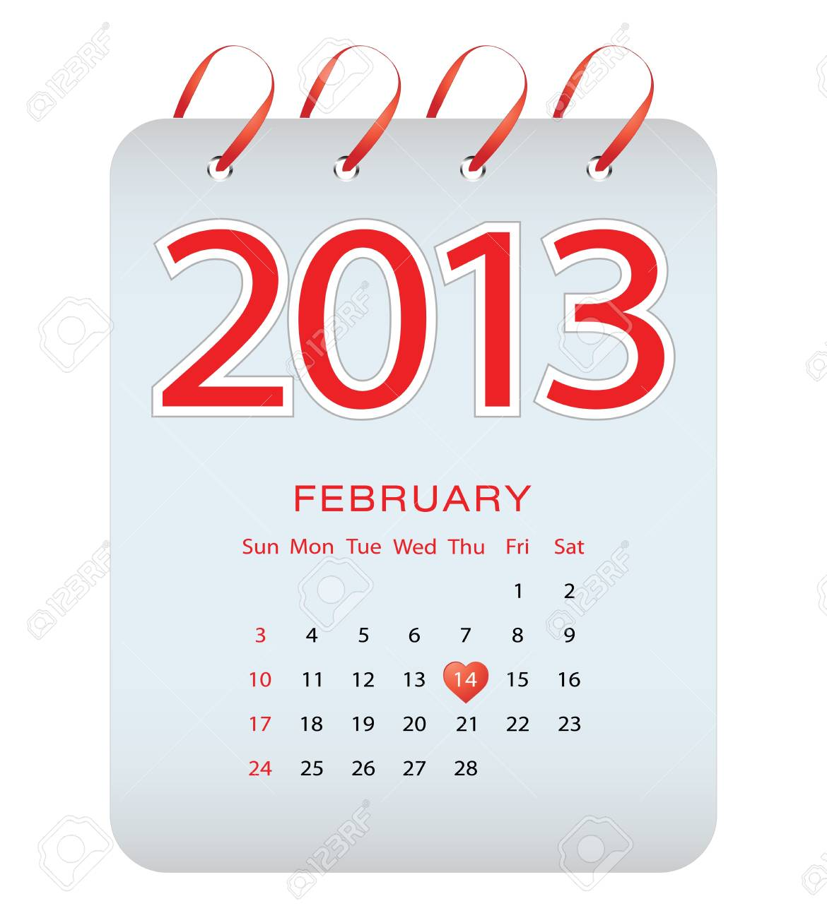 calendar - February 2013 Stock Vector - 17313260