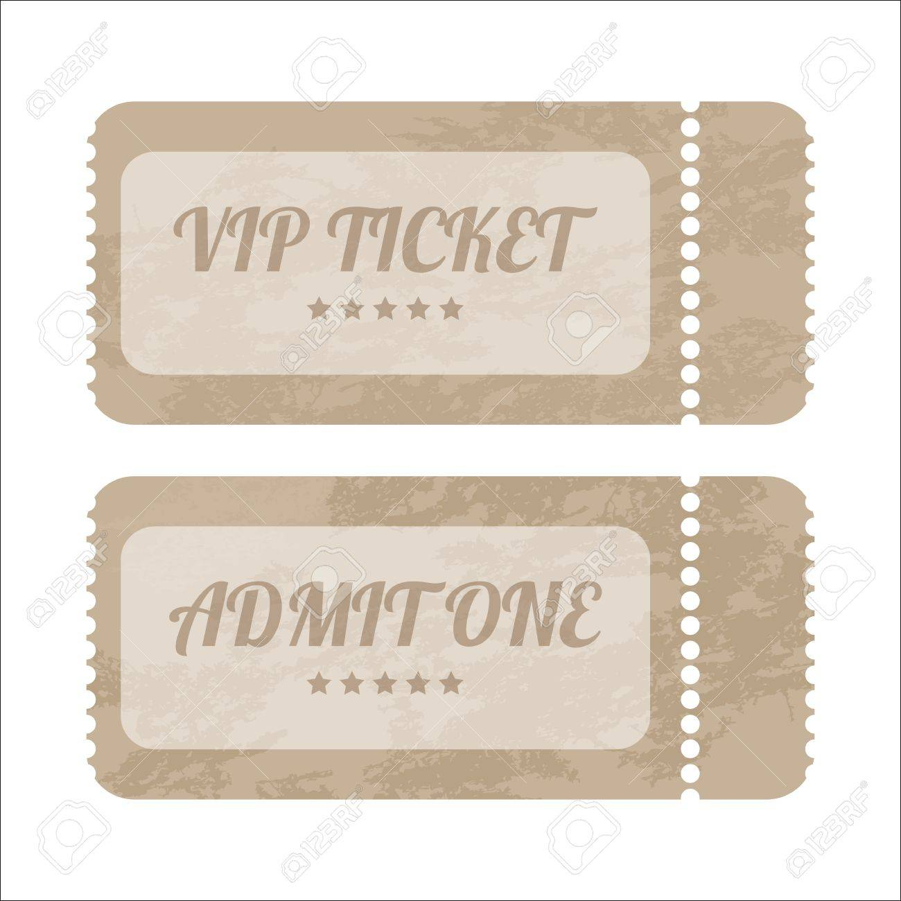 vintage paper tickets with special design Stock Vector - 19866578