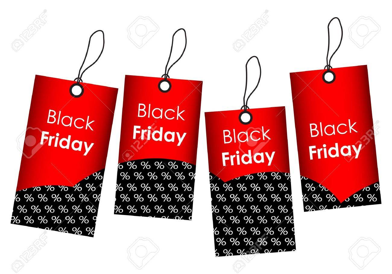 price tags with black friday design Stock Vector - 20818438
