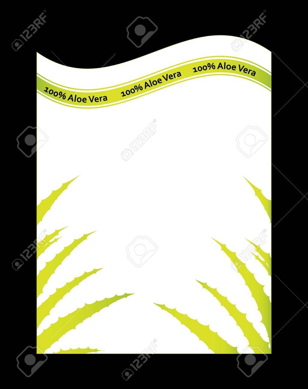 special flyer with aloe vera design Stock Vector - 20989991