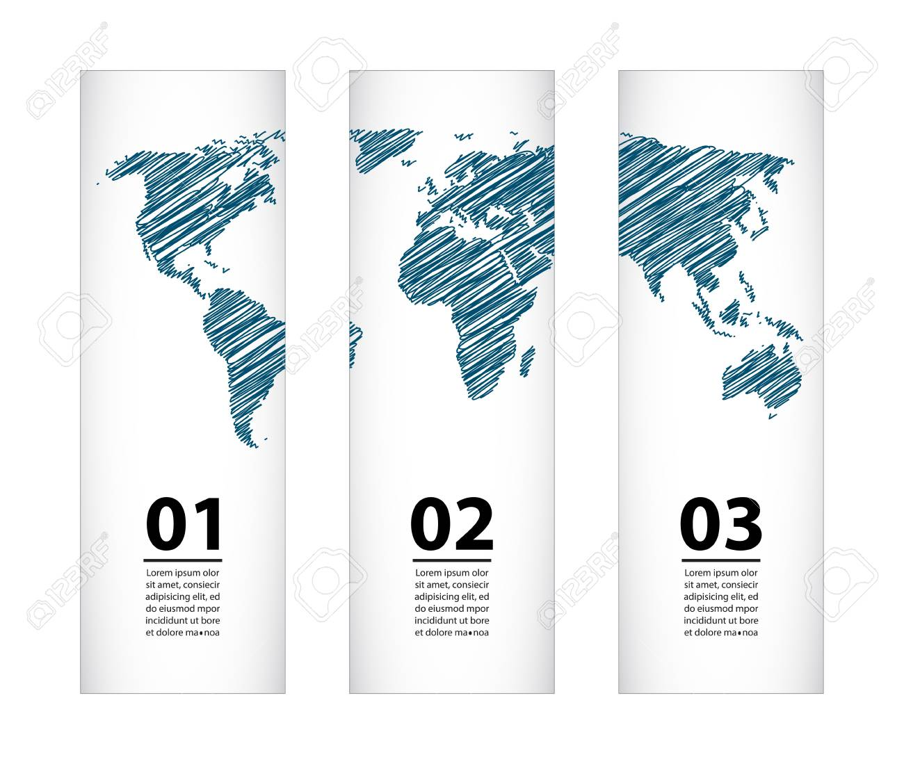 banner with special sketch map design Stock Vector - 21488085