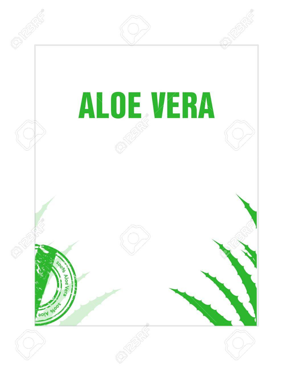 aloe vera flyer Stock Vector - 21773839