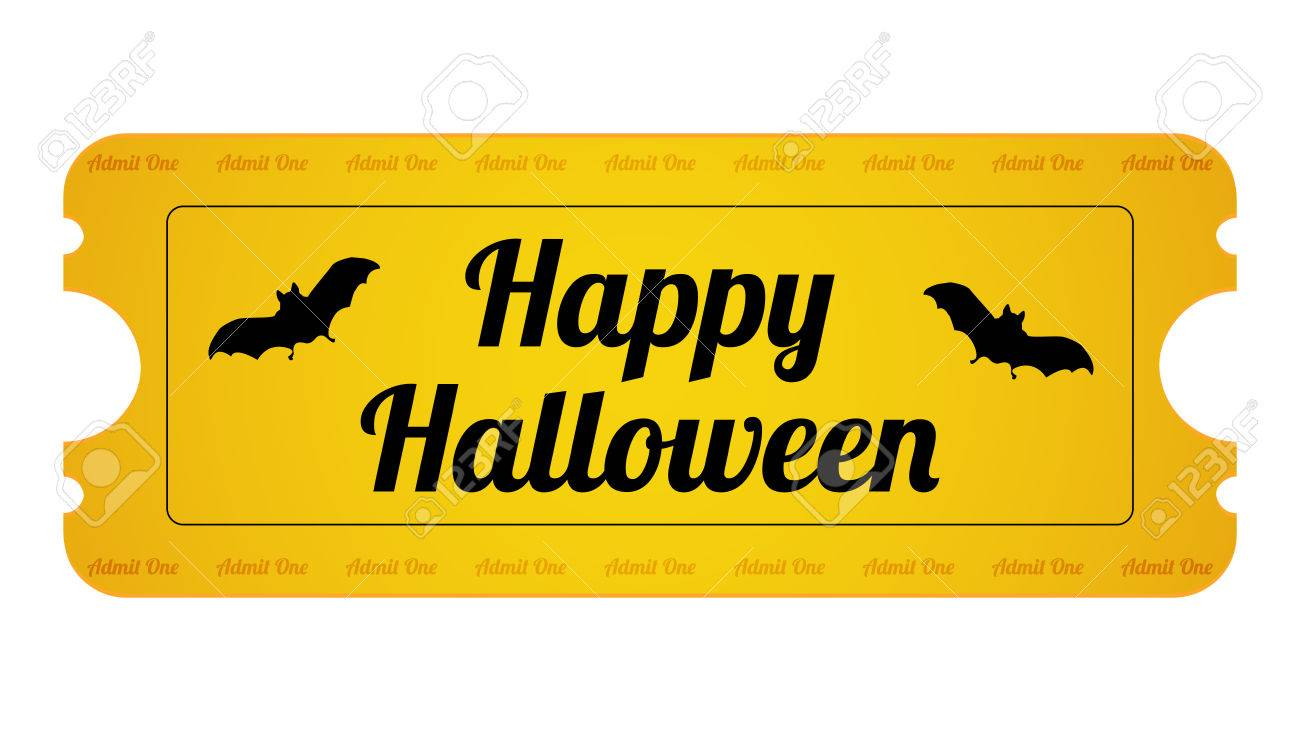 Halloween Party Ticket with special design Stock Vector - 22474424