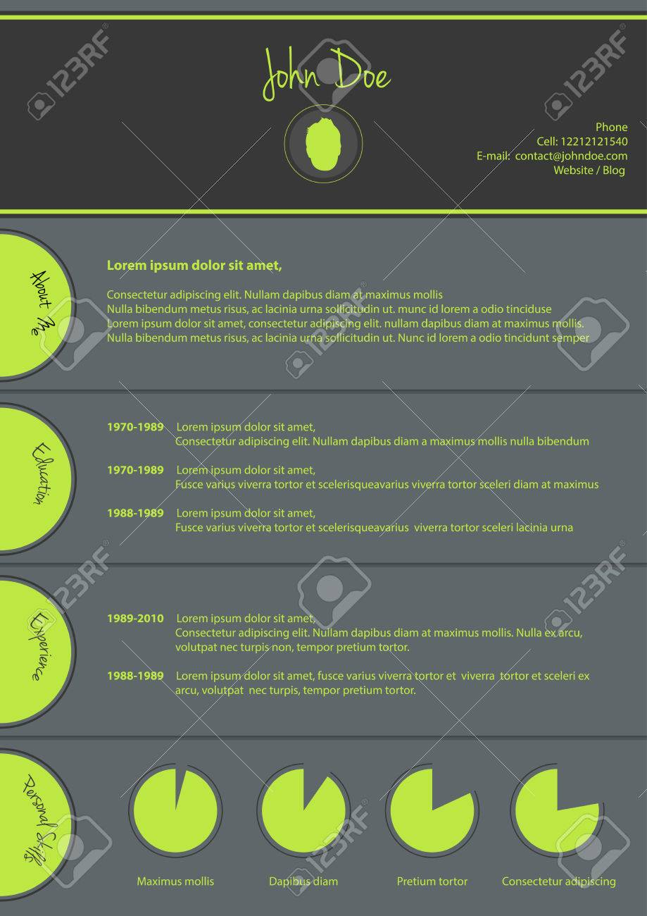 Modern Cv Template, Special Resume Design Stock Vector   36862696