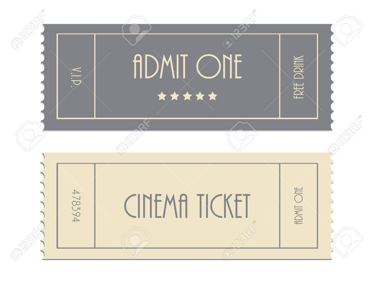 Special Vector Ticket Template, Admit One, Cinema Ticket Royalty ...