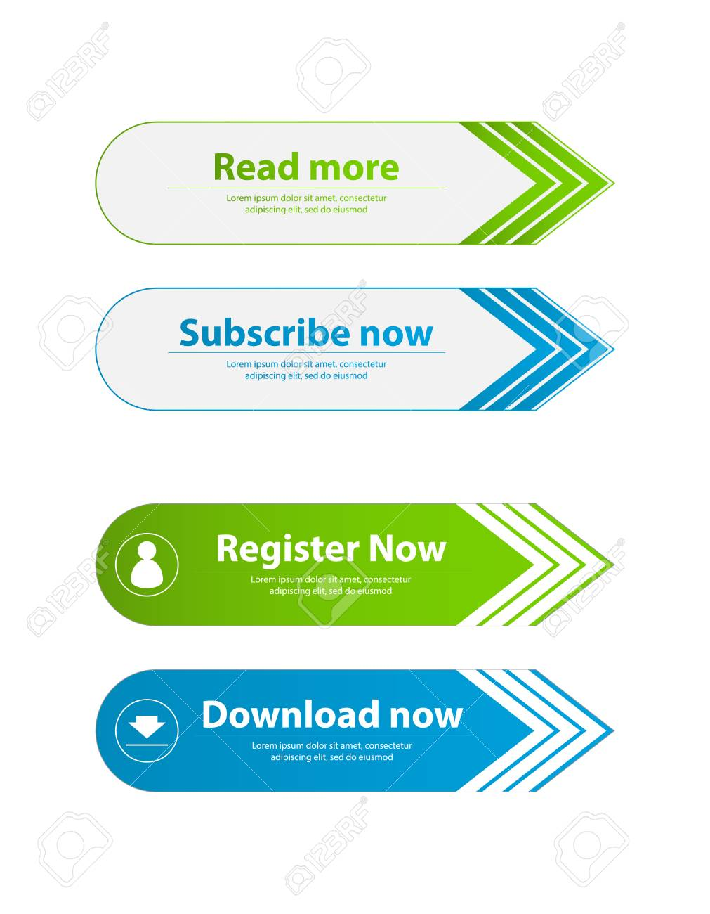 special website buttons,register,download,join advertisement