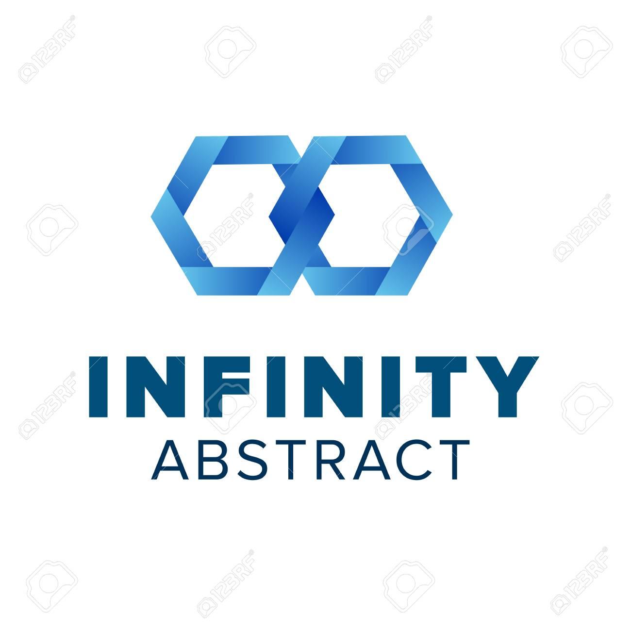 Two Hexagonal Chain Links Logo Beautiful Infinity Logo Template