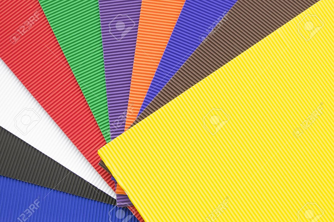 Set Of Colorful Rubber Cellular Sheets Or Yoga Mats. Stock Photo ...
