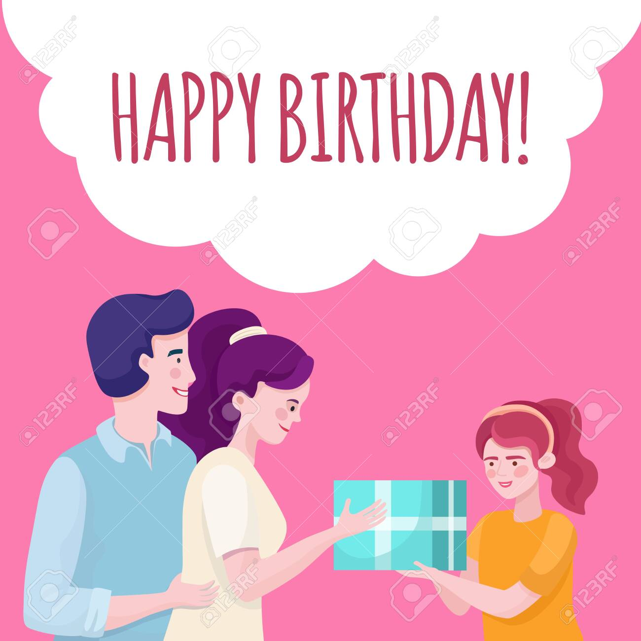 Happy Birthday Banner Design Template Family Congratulating Royalty Free Cliparts Vectors And Stock Illustration Image 140893600