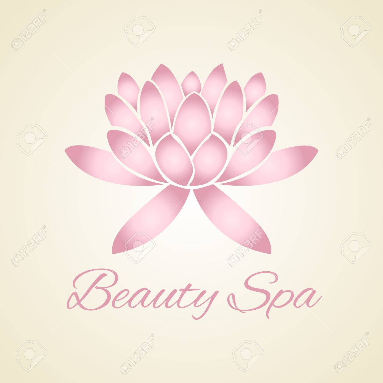 Lotus Flower Abstract Vector Logo Design Royalty Free Cliparts