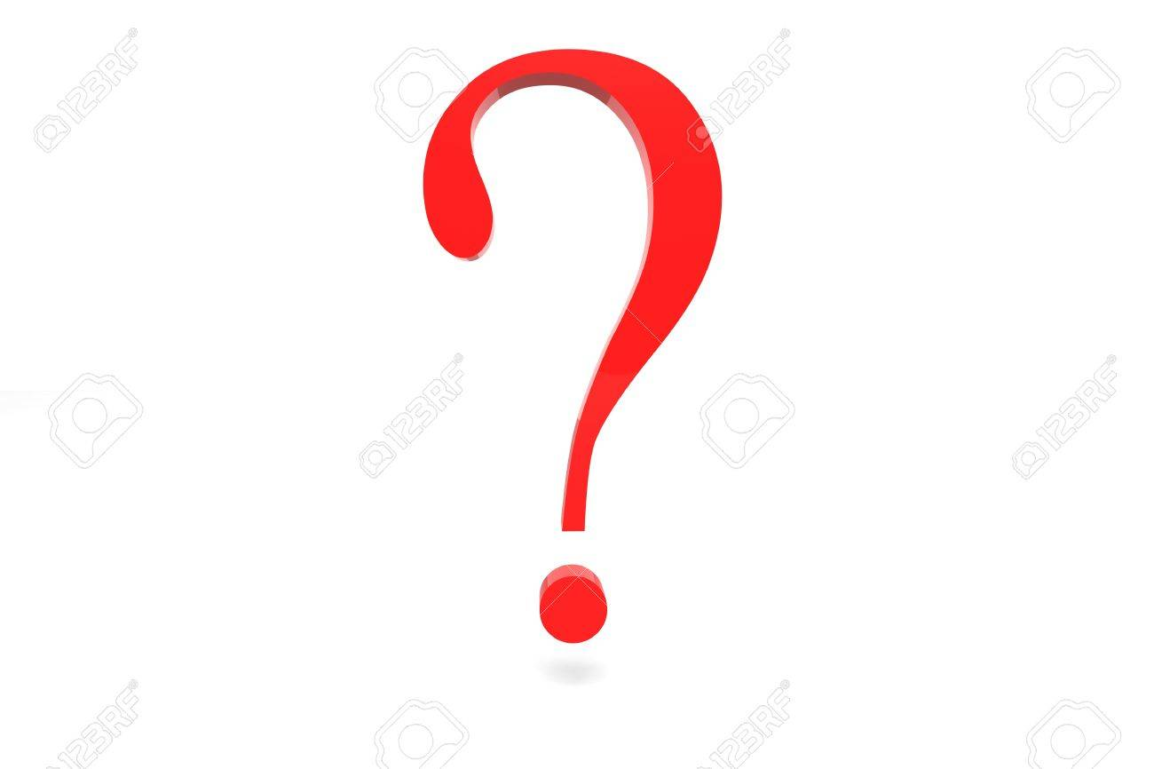 3d rendered question mark in bright red Stock Photo - 13200310