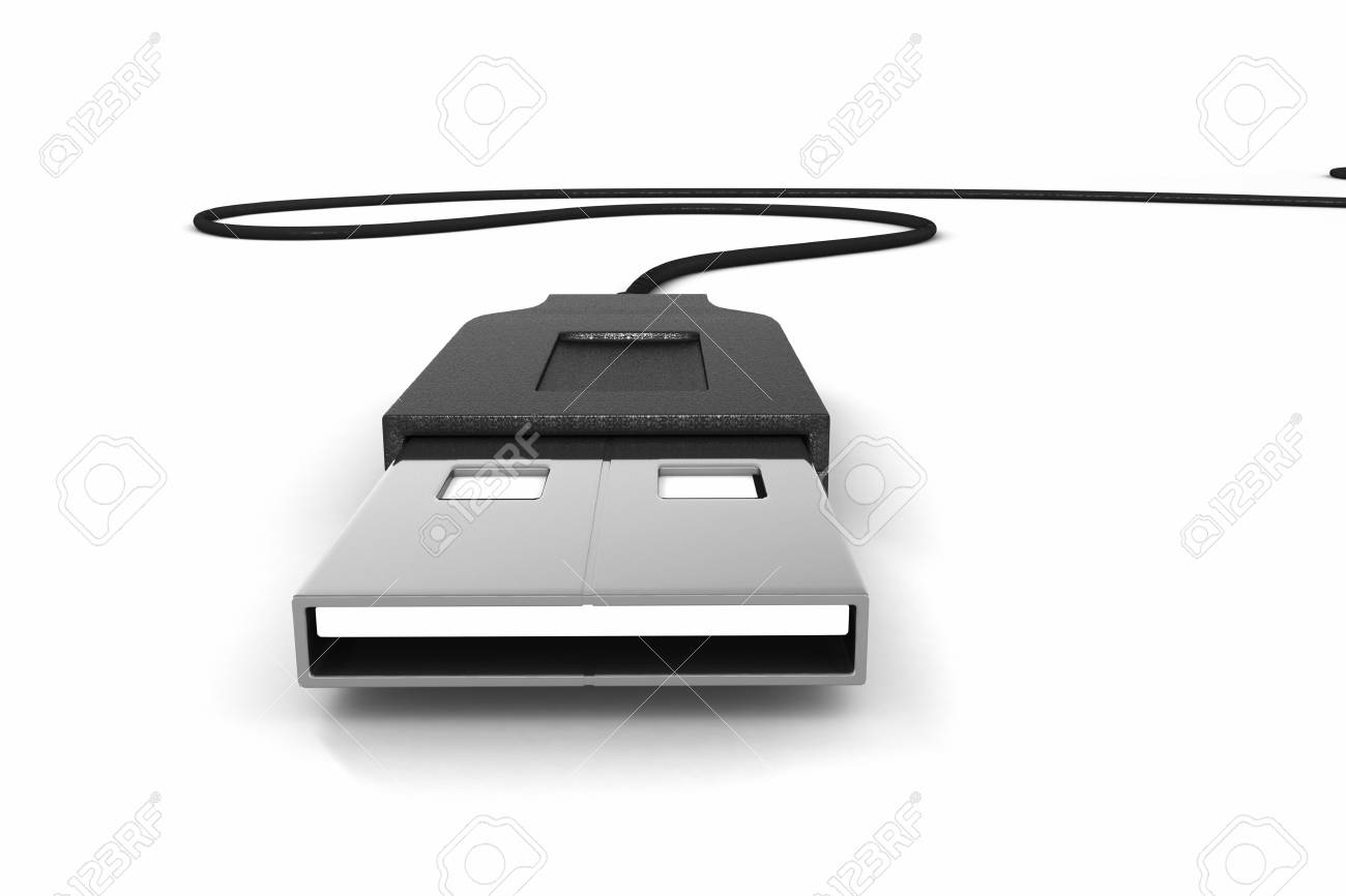 A 3d render of a usb device and cable Stock Photo - 13200346