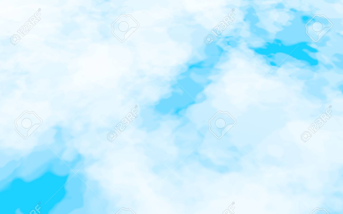 Background Of Abstract White Color Smoke Isolated On Blue Color