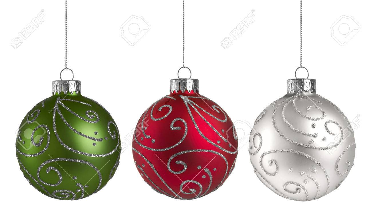 Christmas Ornaments Isolated On A White Background Stock Photo ...