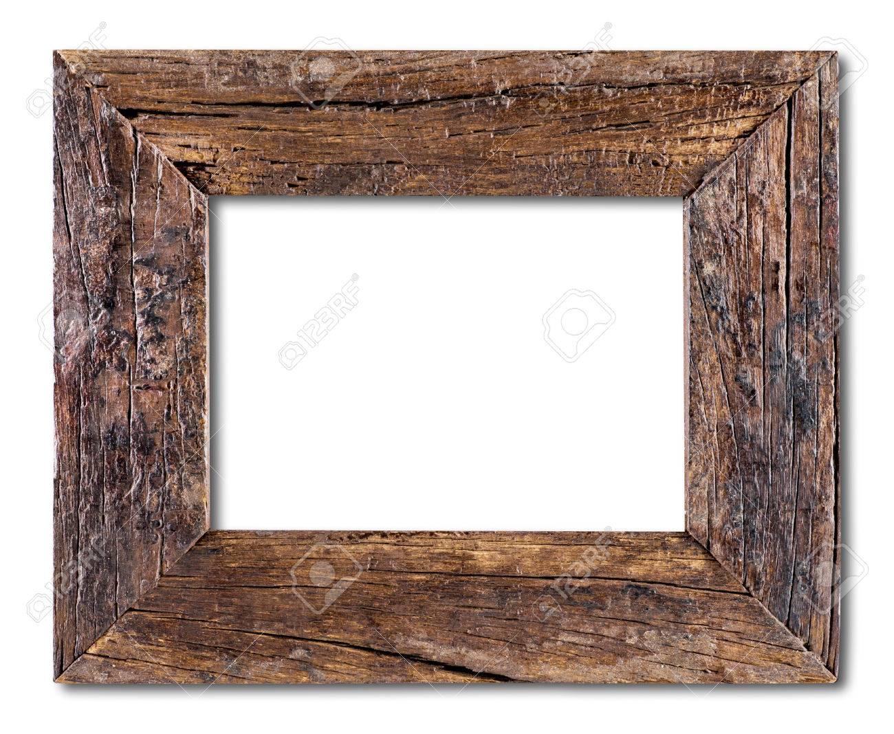 Alter Holzrahmen Auf Einem Weißen Hintergrund Lizenzfreie Fotos ...