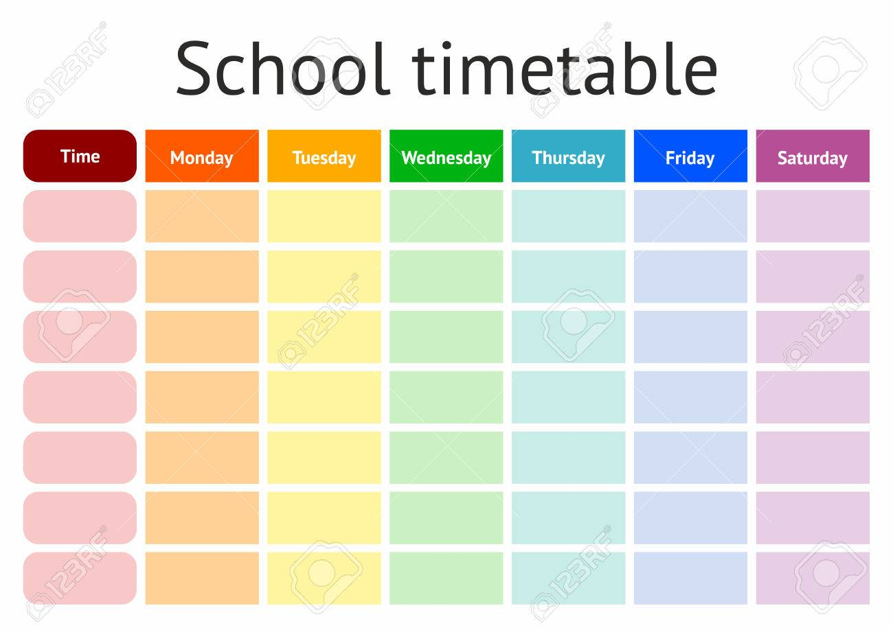 weekly timetable template