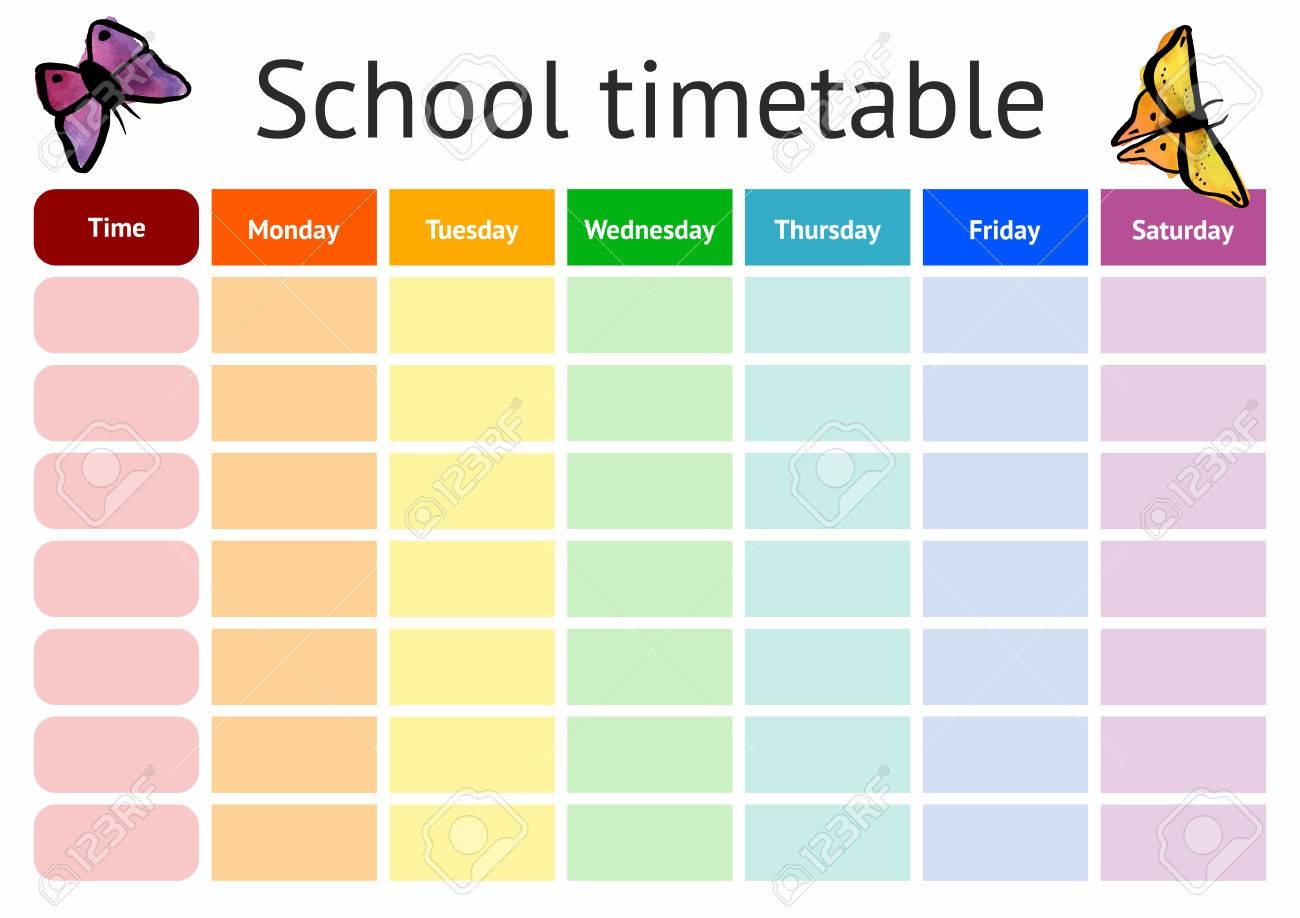 timetable weekly