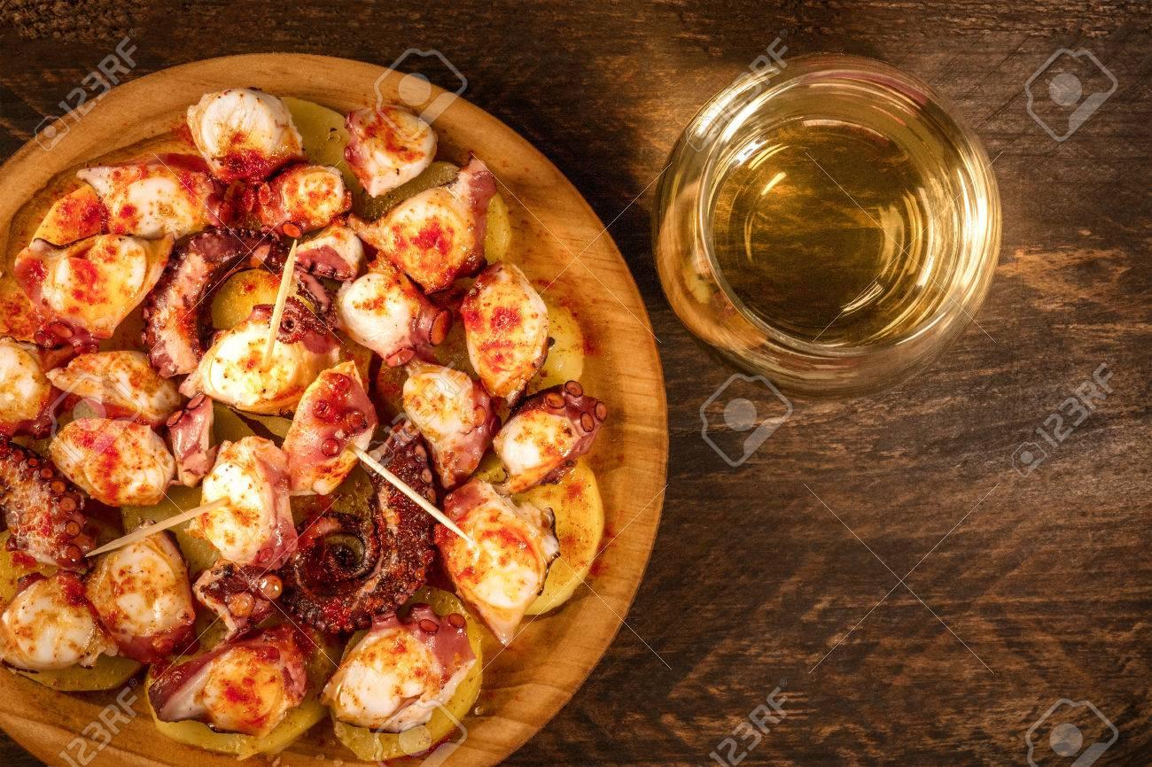 Pulpo a la gallega, traditional Spanish Galician dish - 79137705